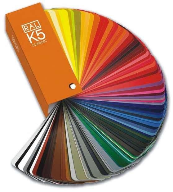 Porte interne gamme di colori RAL