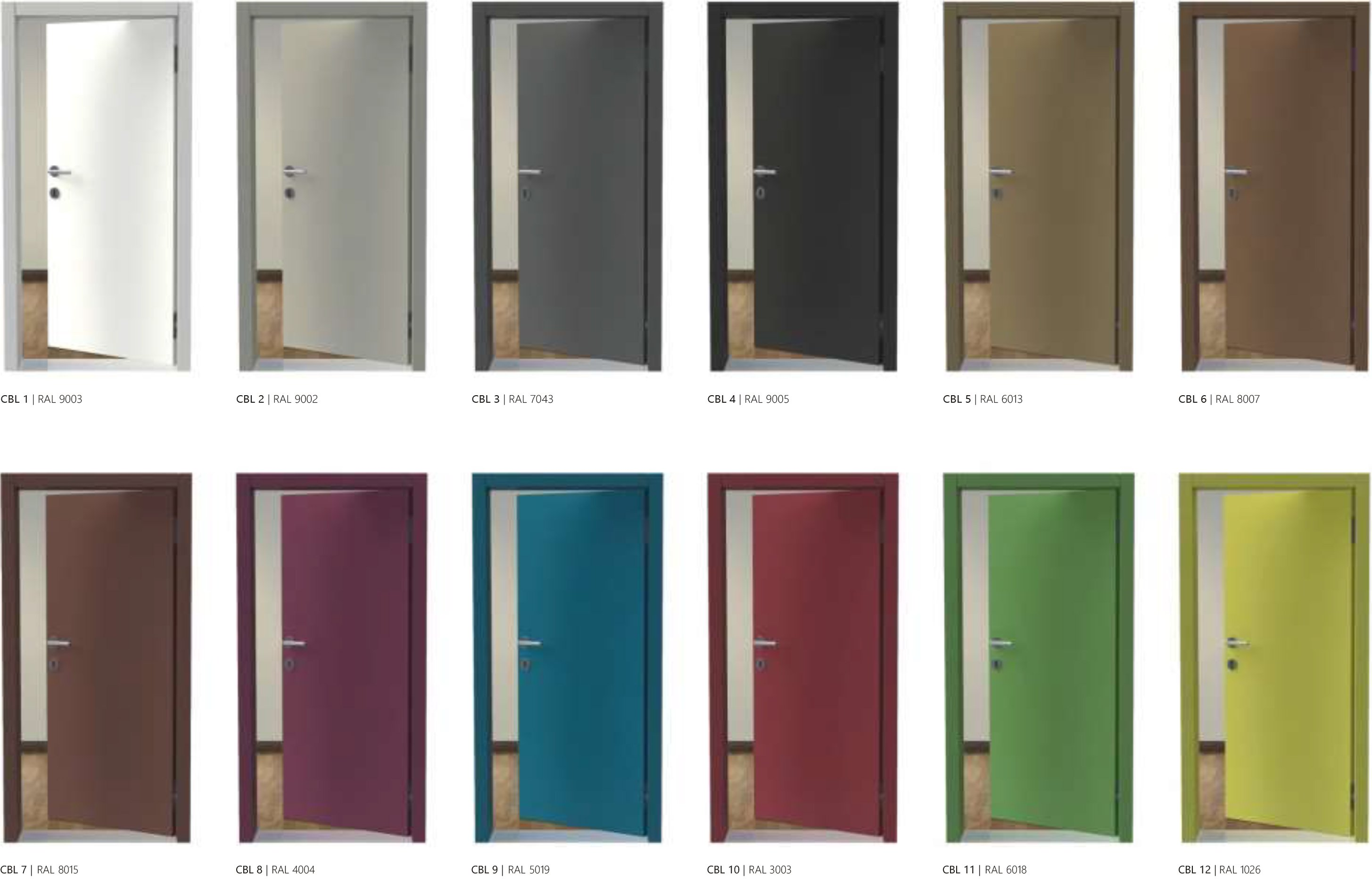 Porte interne color basic line