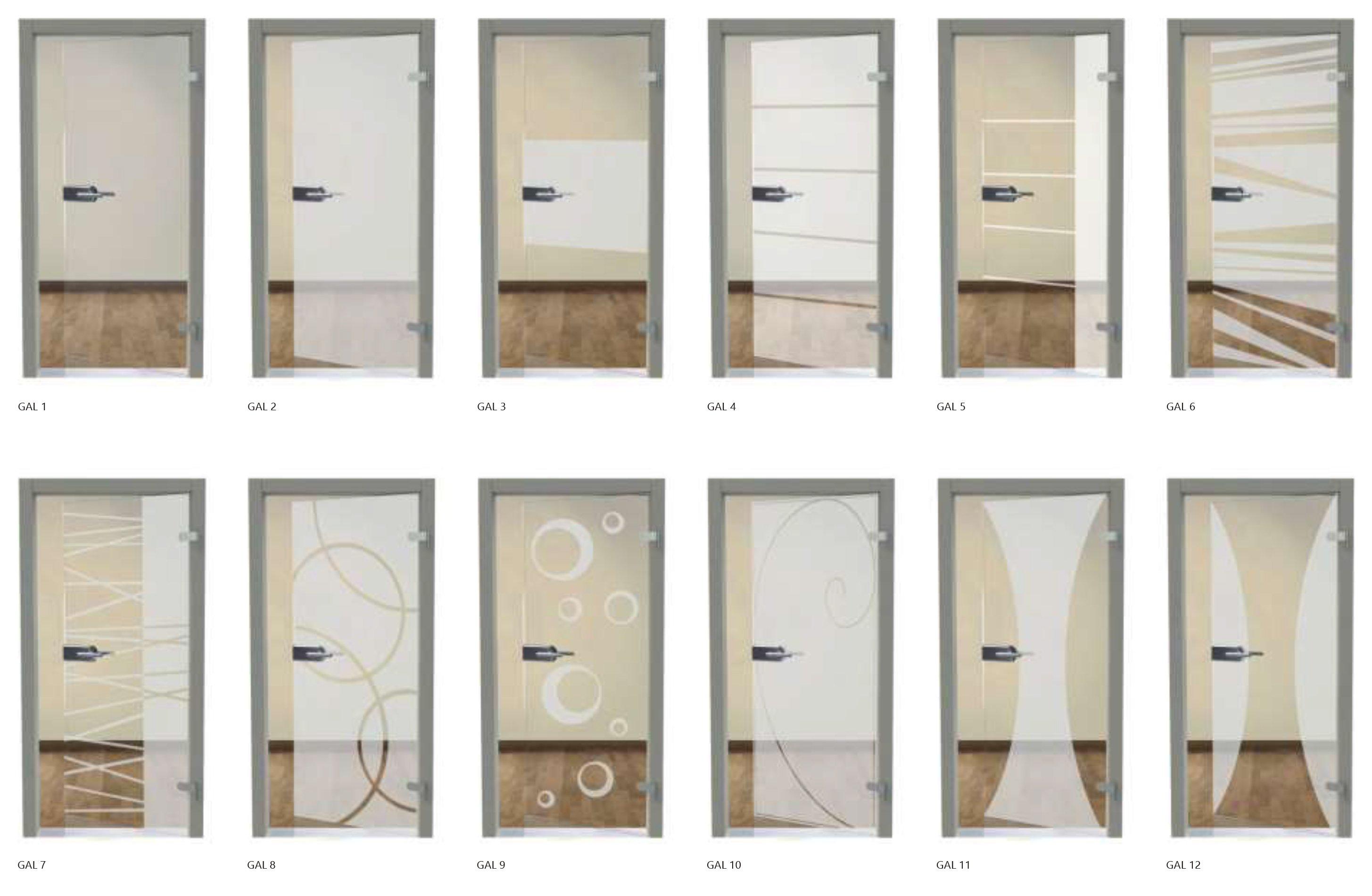 Porte interne glass art line
